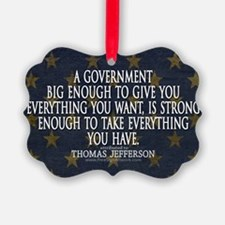 Big Government Quote Ornament