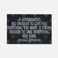 Big Government Quote Rectangle Magnet
