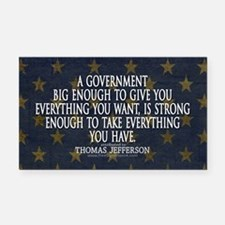 Big Government Quote Rectangle Car Magnet