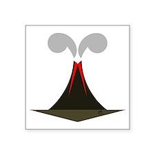 """final volcano Square Sticker 3"""" x 3"""""""