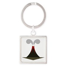 final volcano Square Keychain