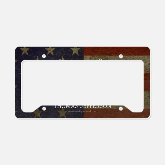 Democracy Quote License Plate Holder