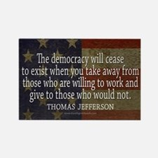 Democracy Quote Rectangle Magnet