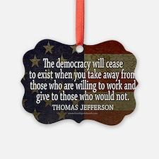 Democracy Quote Ornament