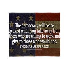Democracy Quote Throw Blanket