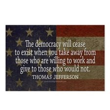 Democracy Quote Postcards (Package of 8)