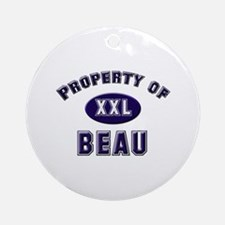 Property of beau Ornament (Round)