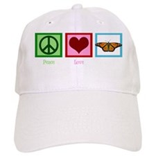 peacelovebutterflywh Baseball Baseball Cap