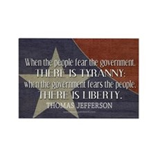 Jefferson Quote Liberty Rectangle Magnet