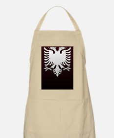Albanian Eagle White on DarkRed iPhone Case  Apron