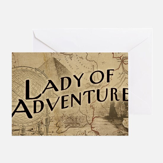 lady-of-adventure_11x18h Greeting Card