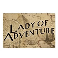 lady-of-adventure_11x18h Postcards (Package of 8)