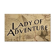 lady-of-adventure_11x18h Rectangle Car Magnet