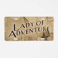 lady-of-adventure_11x18h Aluminum License Plate