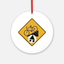 Sign_BikeHill Round Ornament