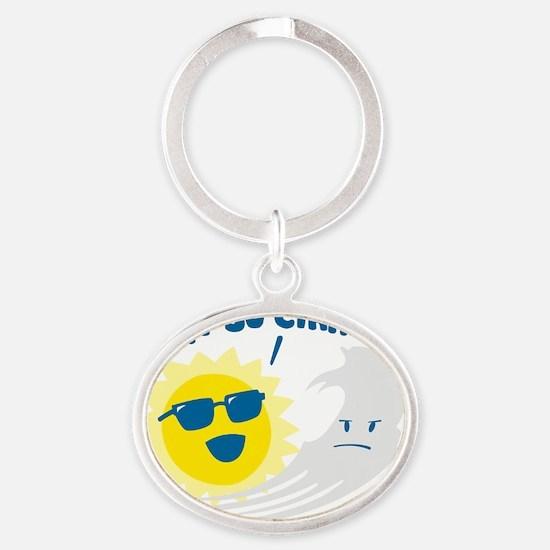 cirrus Oval Keychain
