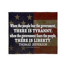 Jefferson Quote Liberty Throw Blanket