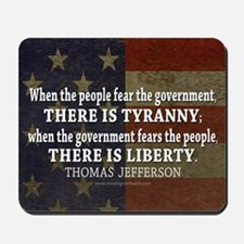Jefferson Quote Liberty Mousepad