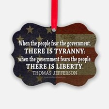 Jefferson Quote Liberty Ornament