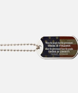Jefferson Quote Liberty Dog Tags