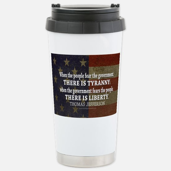 Jefferson Quote Liberty Stainless Steel Travel Mug