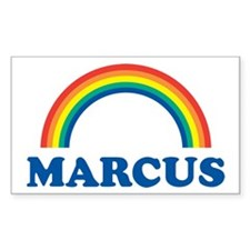 MARCUS (rainbow) Rectangle Decal