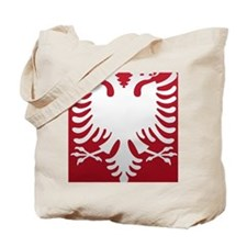 Albanian Eagle White on Red iPhone Case 3 Tote Bag