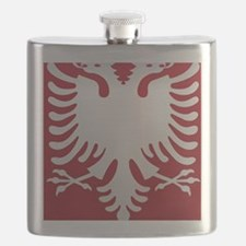 Albanian Eagle White on Red iPhone Case 3GS Flask