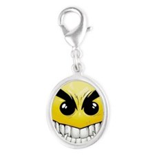 smiley-face-wallpaper-008 Silver Oval Charm