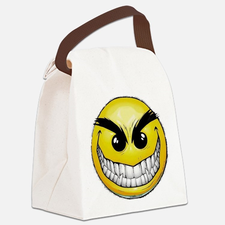 smiley-face-wallpaper-008 Canvas Lunch Bag