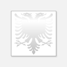 "Albanian Eagle Silver 56in Square Sticker 3"" x 3"""