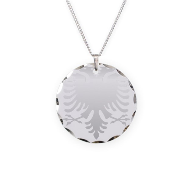 albanian eagle silver 56in necklace circle charm by admin