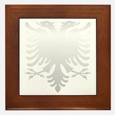Albanian Eagle Silver 56in Framed Tile