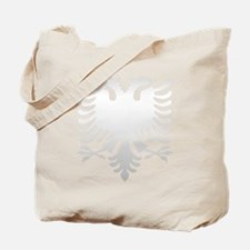 Albanian Eagle Silver 56in Tote Bag