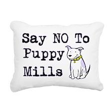 cal-saynotopuppymills Rectangular Canvas Pillow