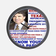 Rick-Perry-Tea-Party Wall Clock