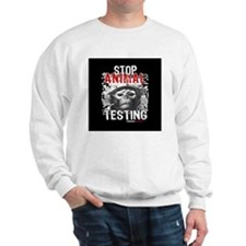 stop-animal-testing-pins-01 Sweatshirt