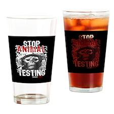 stop-animal-testing-pins-01 Drinking Glass