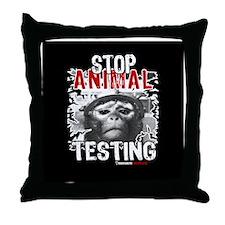 stop-animal-testing-pins-01 Throw Pillow