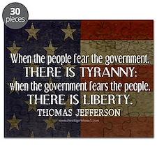 Jefferson Quote Liberty Puzzle