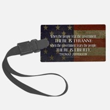 Jefferson Quote Liberty Luggage Tag