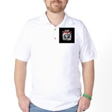 stop-animal-testing-pins-small-01 T-Shirt