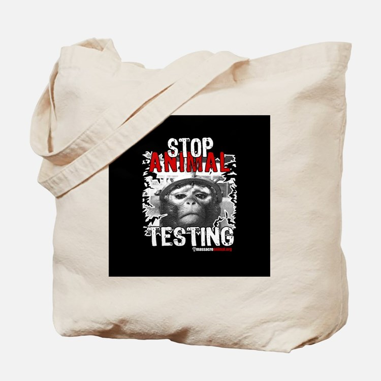 stop-animal-testing-pins-small-01 Tote Bag