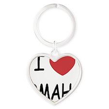 OMAHA Heart Keychain