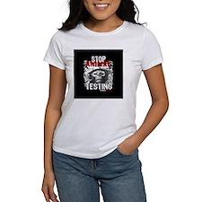 stop-animal-testing-pins-small-01 Tee