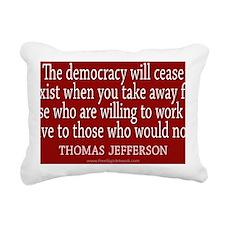Democracy Quote Rectangular Canvas Pillow