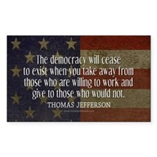 Democracy Quote Decal