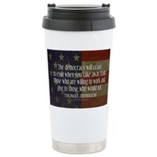 Democracy Quote Travel Mug
