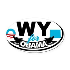 WY-4-Obama-OS Oval Car Magnet