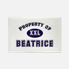 Property of beatrice Rectangle Magnet